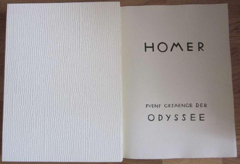 Bilddarstellung: Homer, Marcks, Gerhard Fünf Gesänge der Odyssee