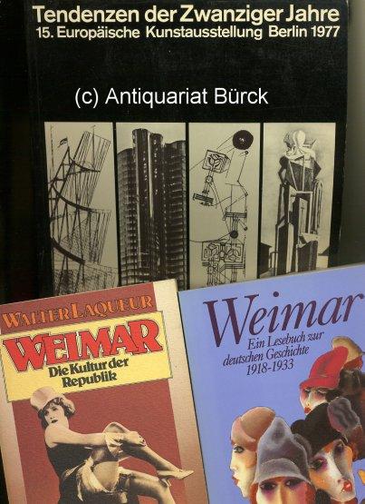 - Tendenzen der Zwanziger Jahre. Mit überaus zahlreichen s/w-Abbildungen. Katalog zur Ausstellung Berlin 1977. Dazu zwei  Beigaben.