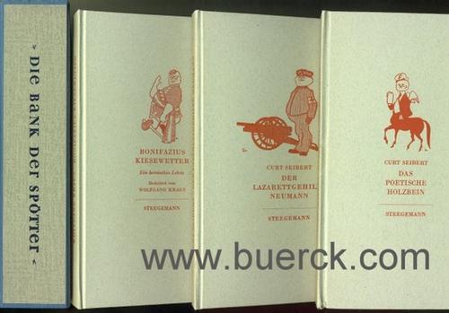 - Die Bank der Spötter. Original-Kasette mit den Bänden 1, 2 und 4 der Reihe.