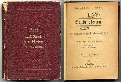 W. B. (DAS IST ? ): - Trübe Zeiten. Eine Erzählung aus dem Revolutionsjahr 1848 für die reifere Jugend und ihre Freunde. 2. Auflage (4.-6. Tausend).