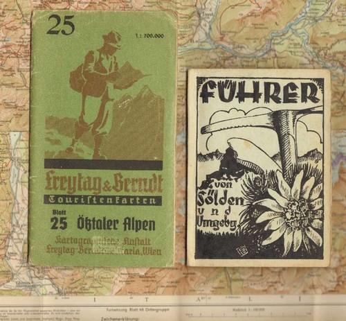 - Freytag & Berndt Touristenkarte. Blatt 25: Ötztaler Alpen. Farbig lithographierte Faltkarte, Massstab 1:100.000. Dazu eine Beigabe.