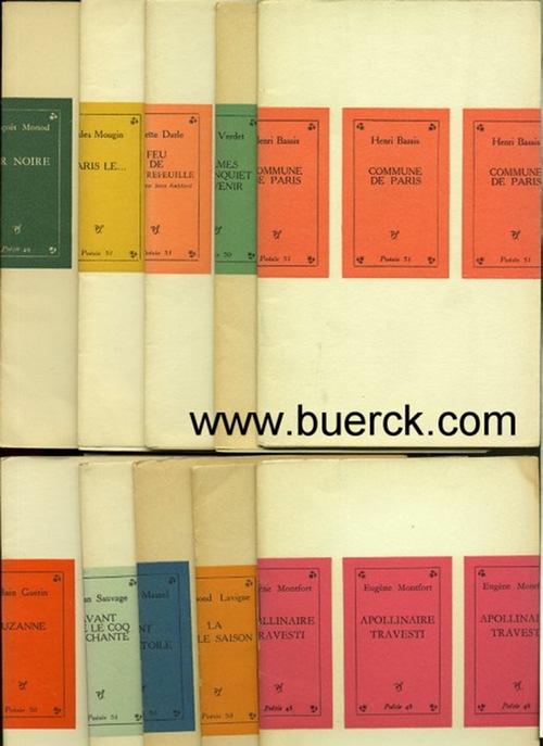 - Sammlung von 10 Bändchen der Reihe 'Poesie 49' resp. 'Poesie 50' resp. 'Poesie 51' [Texte Französisch]. Teilweise mit  Illustrationen.