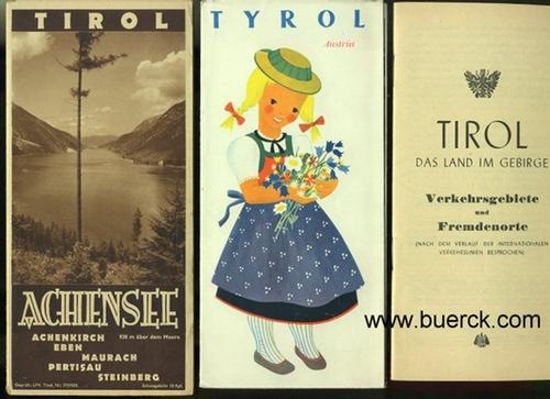 - Drei Werbeprospekte zu Tirol. Mit teils farbigen Abbildungen.