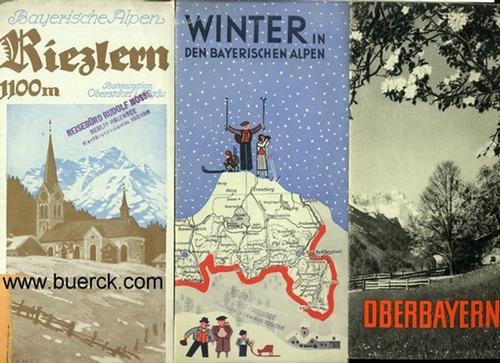- Drei, teils farbige Faltprospekte zu den Bayerischen Alpen.