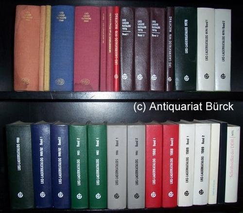 - LKG - Leipziger Kommissions- und Grossbuchhandel. Sammlung von 27 Bänden der Folge. Dazu zwei Beigaben.