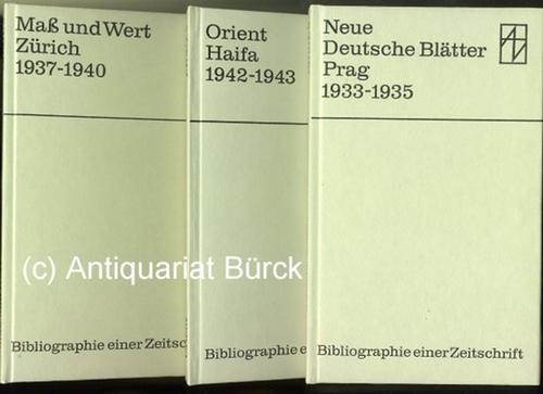 - Konvolut von 3 Bibliographien deutscher Exilzeitschriften. 1.: