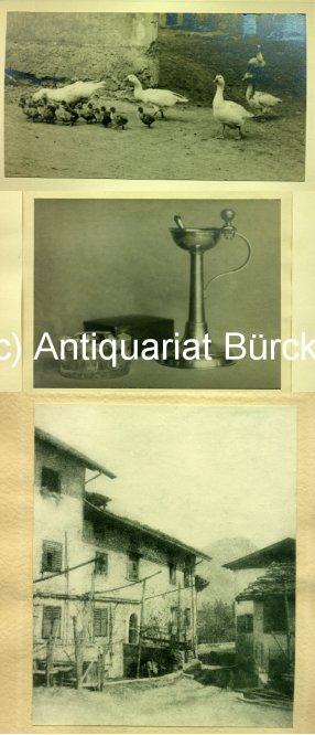 - Sammlung von 17 Original-Photographien. Vintages. Silbergelatine, teils getont, Pigment- und Öldrucke. Montiert unter Passepartout.