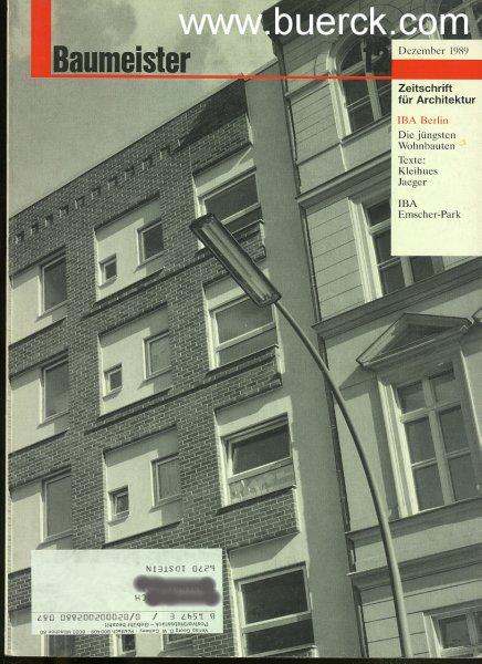 - Baumeister. Zeitschrift für Architektur. Heft Dezember 1989: Internationale Bauaustellung Berlin 1985. Mit Texten von Josef  Paul Kleihues: