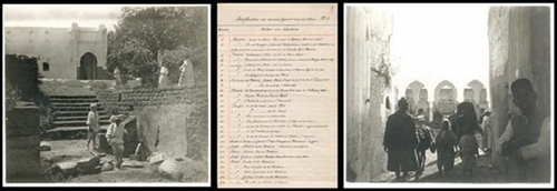 - Privates Album mit 200 Original-Photographien einer Marokko-Reise. Vintages. Silbergelatine. Gesteckt.