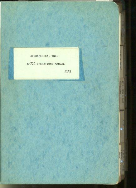 - B - 720 Operations Manual # 142. Mit überaus zahlreichen Diagrammen und Abbildungen [Text Englisch].