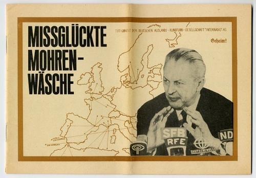 - Missglückte Mohrenwäsche [Der Fall Kurt Georg Kiesinger und die Folgen]. Mit Abbildungen im Text. Herausgegeben vom Nationalrat  der Nationalen Front.