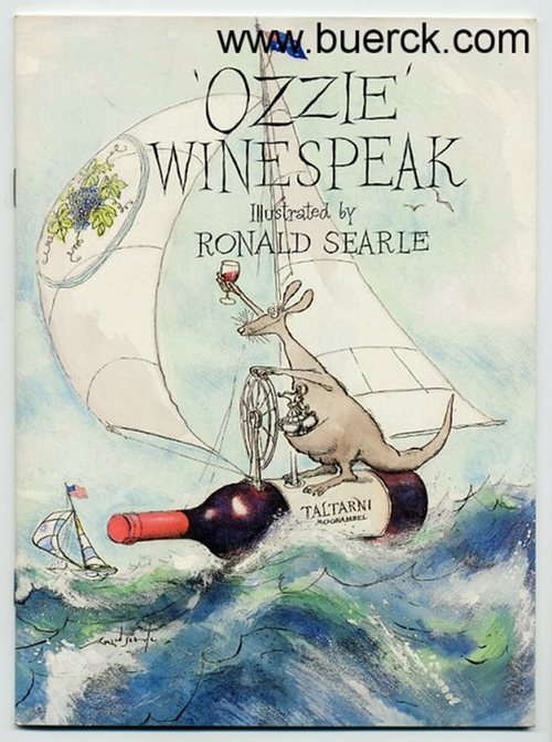 - 'Ozzie' Winespeak. Illustrated by Ronald Searle [Text Englisch],