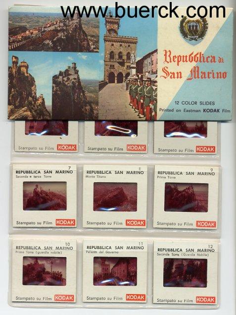 - Repubblica di San Marino. 12 farbige Kodak-Dias.