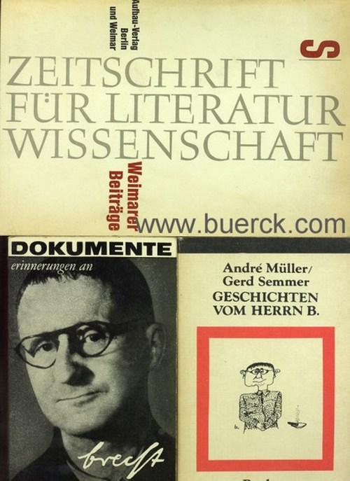 - Weimarer Beiträge. Sonderband Bertolt Brecht. Dazu 2 Beigaben.