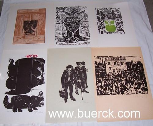 - Der Kreuzberger Graphik-Kalender 1980/81. Mit 12 Original-Graphiken, darunter elf als Holzschnitt, eine als Offset,  insgesamt sind 11 der Blätter eigenhändig von den KünstlerInnen  signiert.