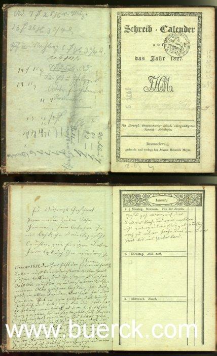 - Schreib-Calender auf das Jahr 1827. Mit Herzogl. Braunschweig-Lüneb. allergnädigstem Special-Privilegio.