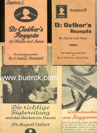 - Sammlung von vier Broschüren mit Dr. Oetkers Rezepten.