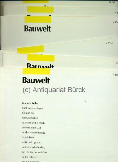 - Bauwelt. [Zeitschrift für Architektur]. Sammlung von 41 (von 96) Heften der Jahre 1998 und 1999. Dazu zwei ungezählte  Register-Hefte. Mit überaus zahlreichen, teils farbigen  Abbildungen.