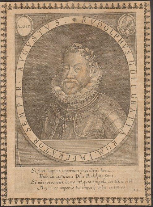 - Rudolf II. (1552-1612). Kupferstich. Format 20,5 x 15,5 cm.