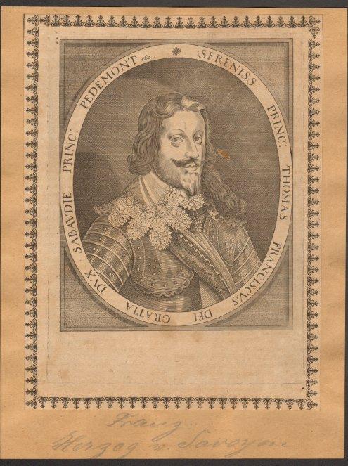 - Thomas Franz von Savoyen (1595 - Turin - 1656). Kupferstich. Format 20,5 x 15,5 cm.