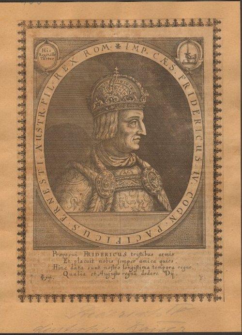 - Friedrich III. von Habsburg (1415-1493). Kupferstich. Format 20,5 x 15,5 cm.