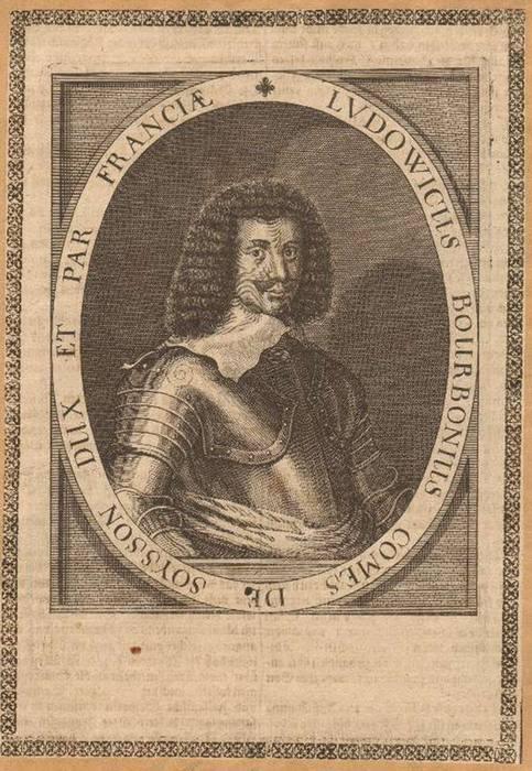 - Louis de Bourbon, comte de Soissons (1604 - 1641). Kupferstich. Format 20,5 x 15,5 cm.