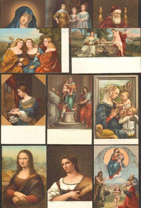 - Sammlung von 11unbeschriebenen Kunstpostkarten in Farblithographie vom Beginn des 20. Jahrhunderts.