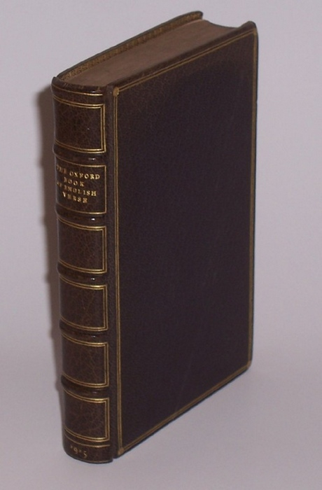 QUILLER-COUCH, ARTHUR: - The Oxford Book of English Verse 1250-1900. Chosen & Edited by Arthur Quiller-Couch.